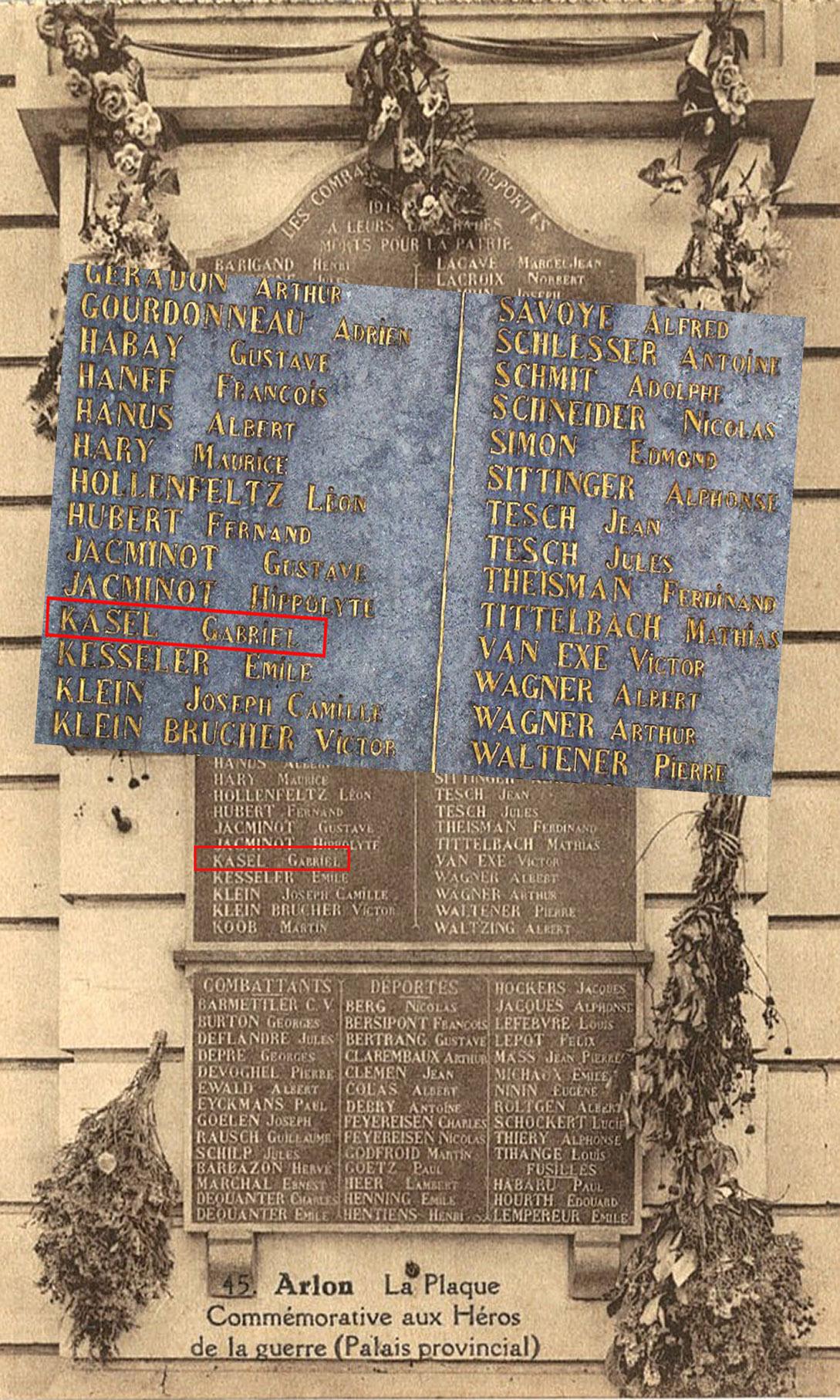 gouvernement provincial arlon la plaque commémorative