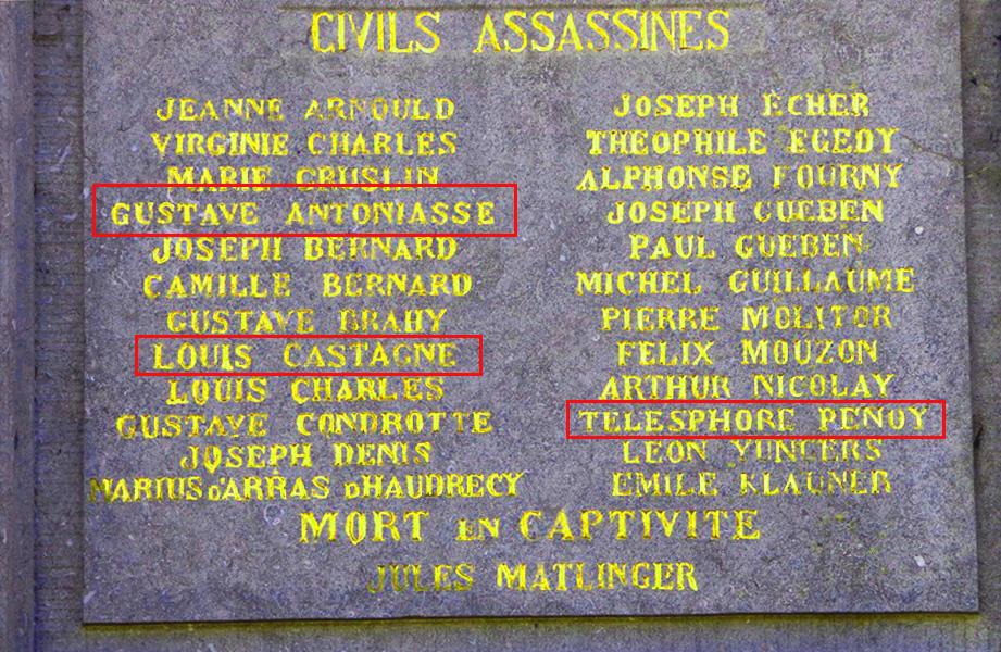 plaque monument neufchateau les fusillés