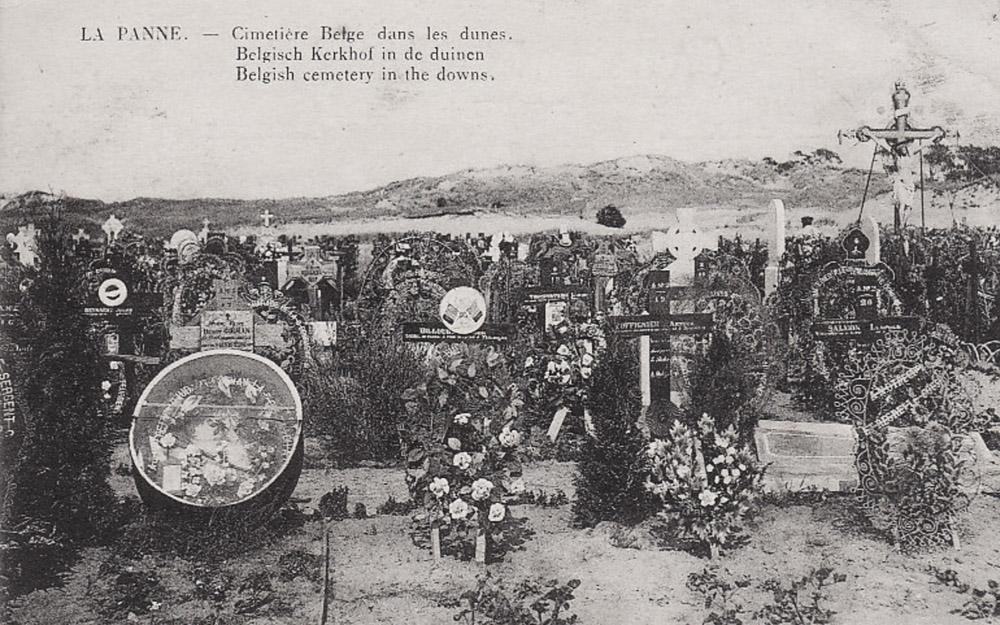 la panne cimetière belge dans les dunes