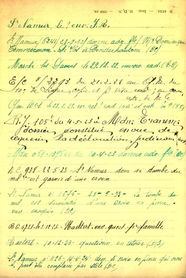 temmerman fiche 04 belg war register