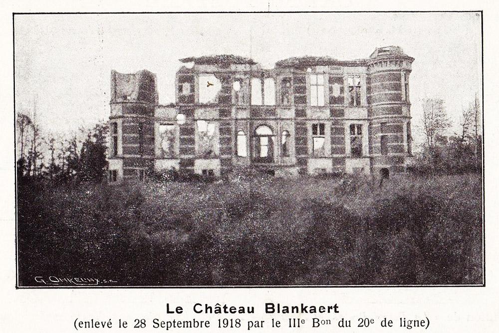chateau blanckaert 28 sept 1918