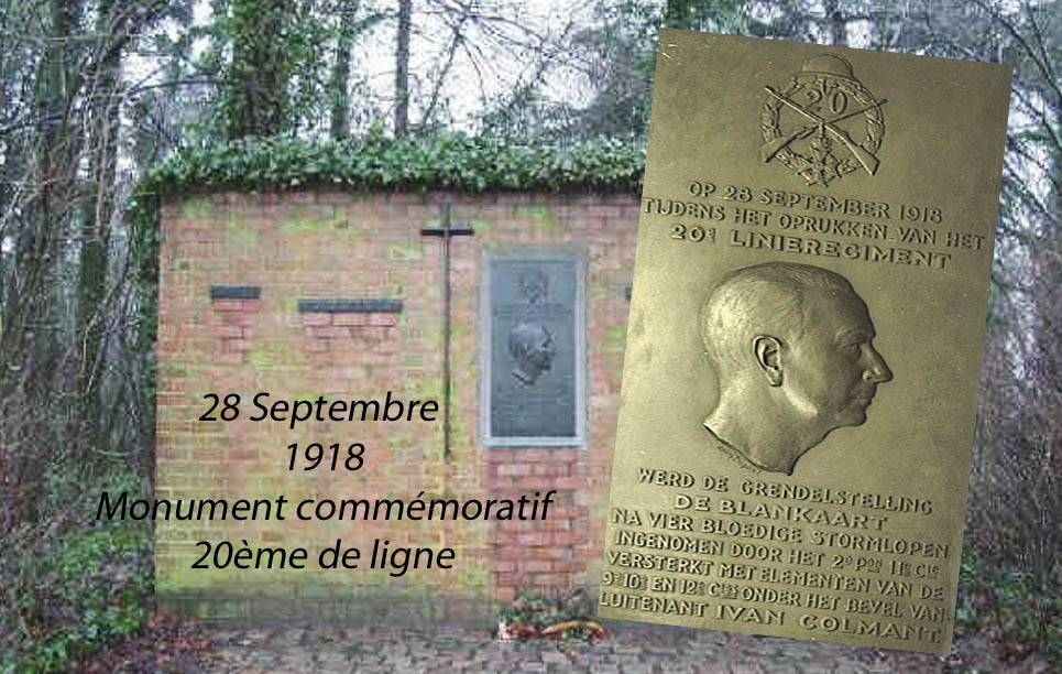 monument blanckaert 28 Sept 1918 lt Colmant