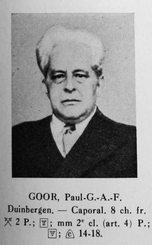paul Goor titulaire carte du feu