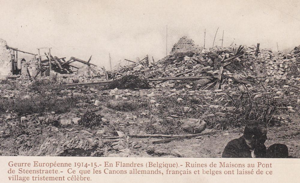 steenstraete 1915 ruines