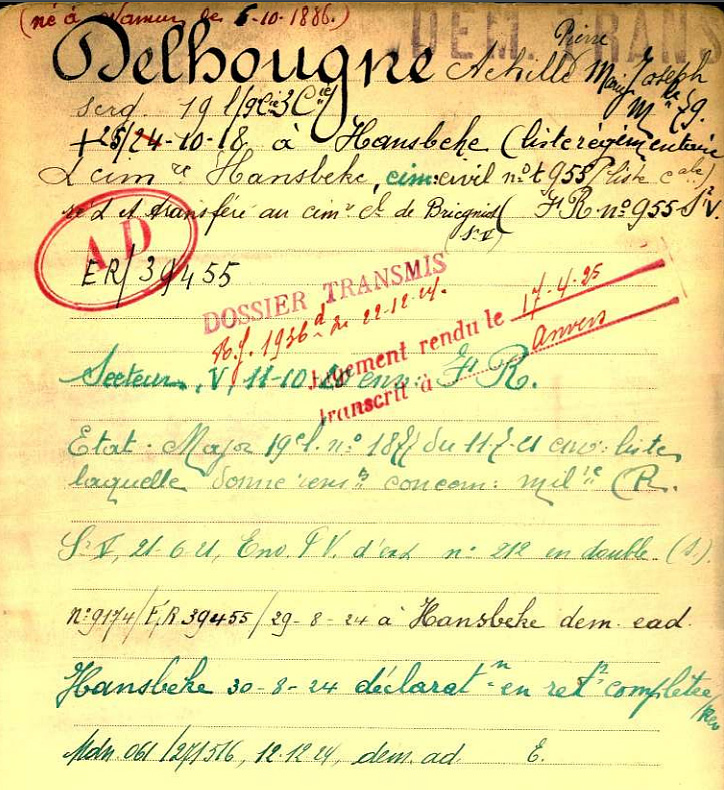 delhougne fiche belg war register
