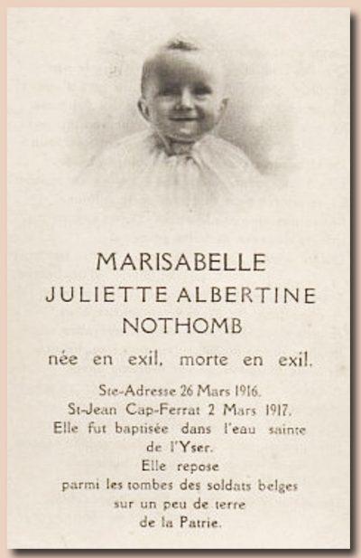 marisabelle nothomb avis mortuaire