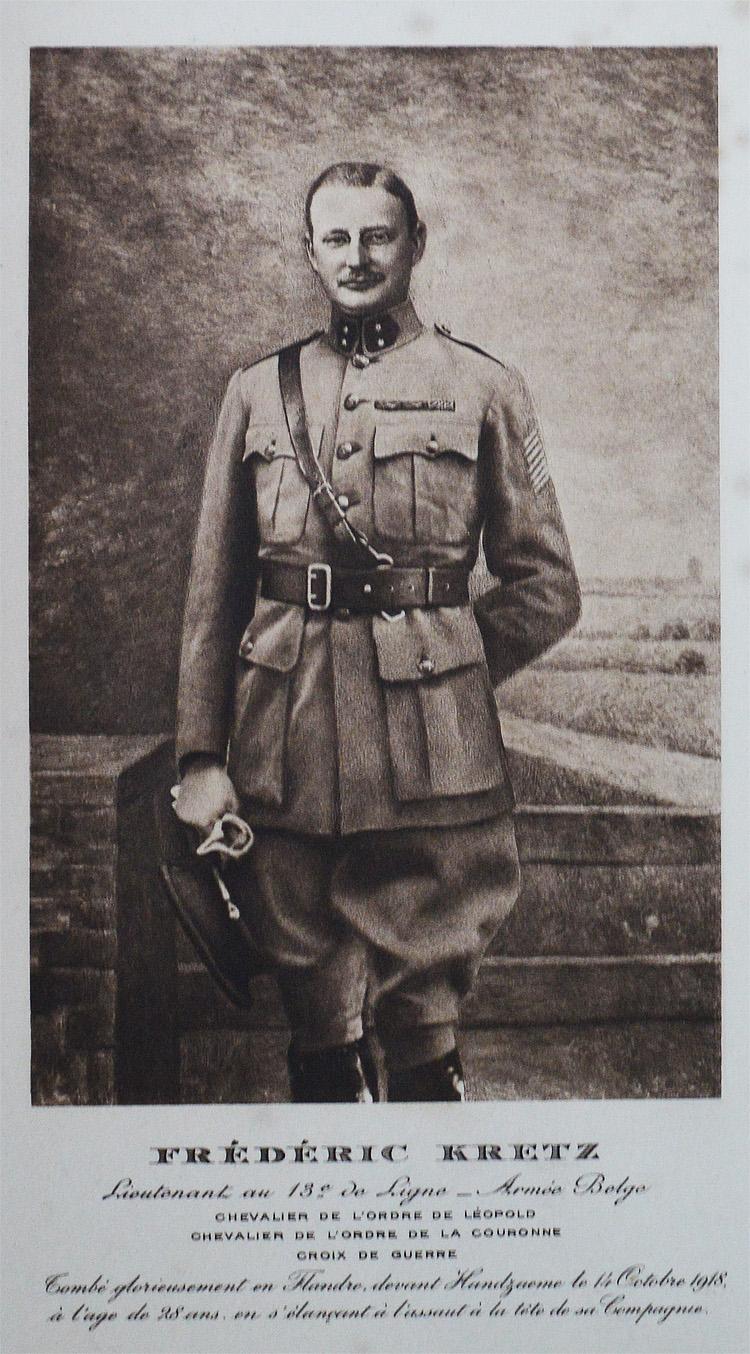 portrait du lt kretz en uniforme