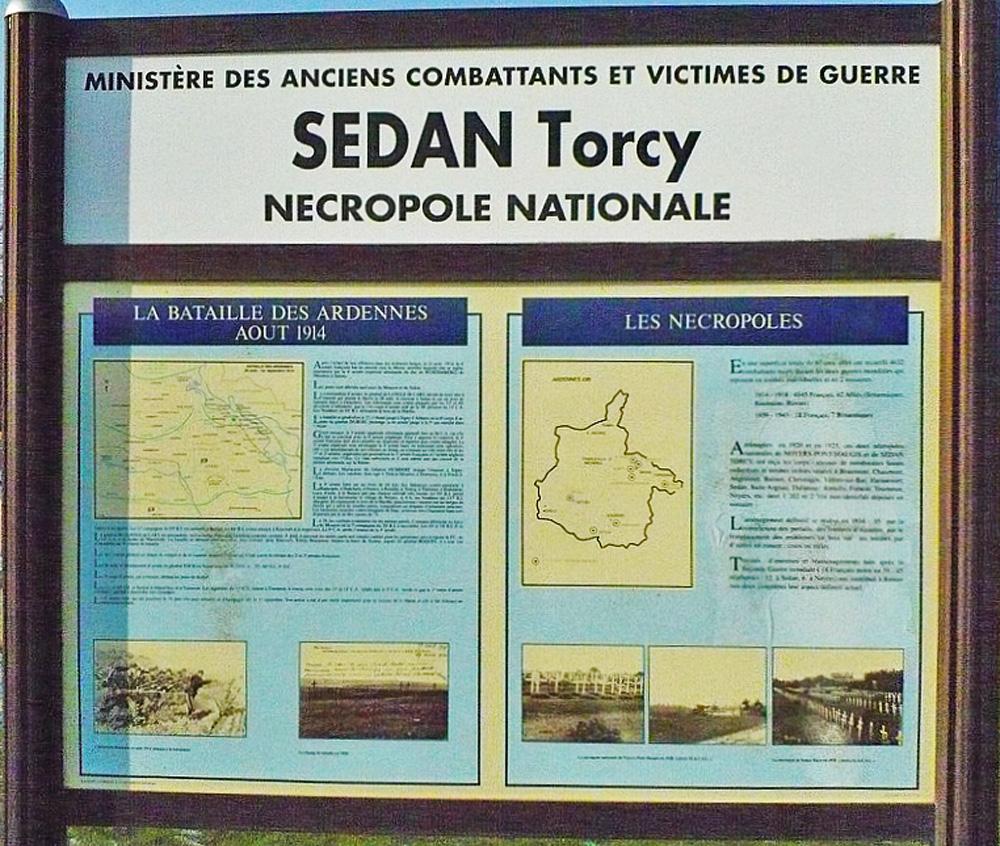 sedan torcy nécropole nationale panneau didactique