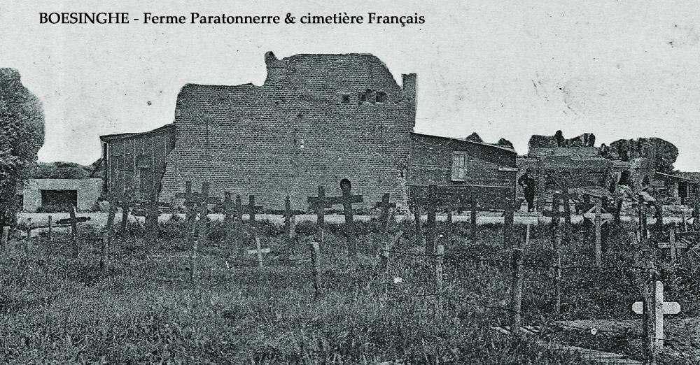Boesinghe ferme paratonnerre et cim Francais