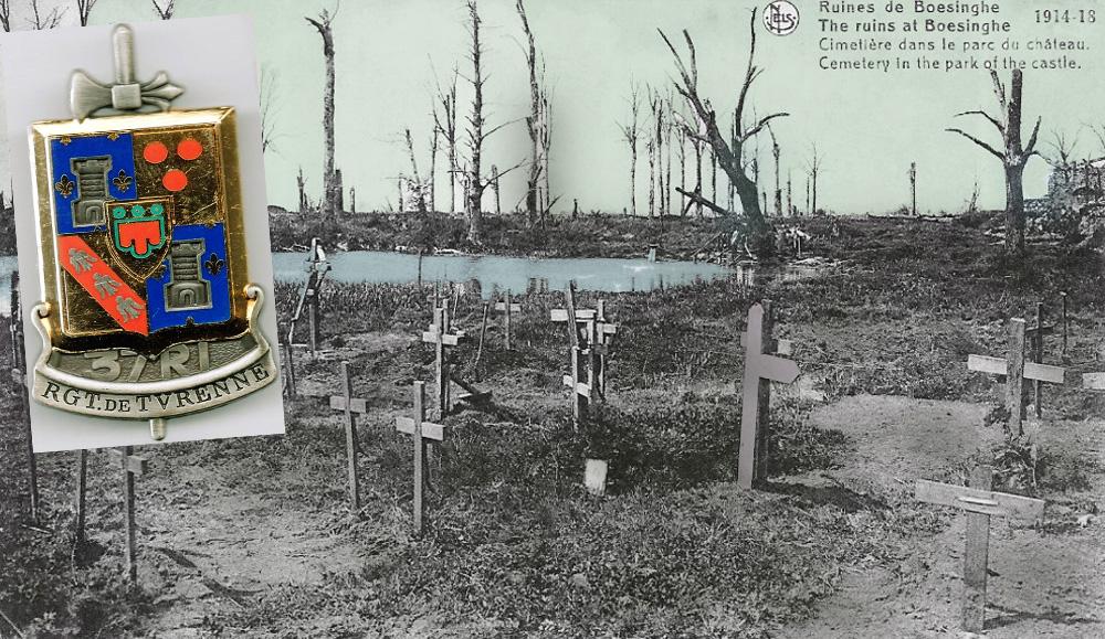 sepultures dans parc chateau boesinghe avec logo 37ri