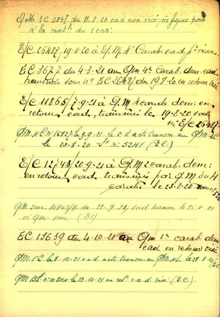 fiche 02 belg War Register Ravier Auguste