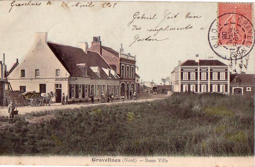 gravelines 1909 villas et calèche