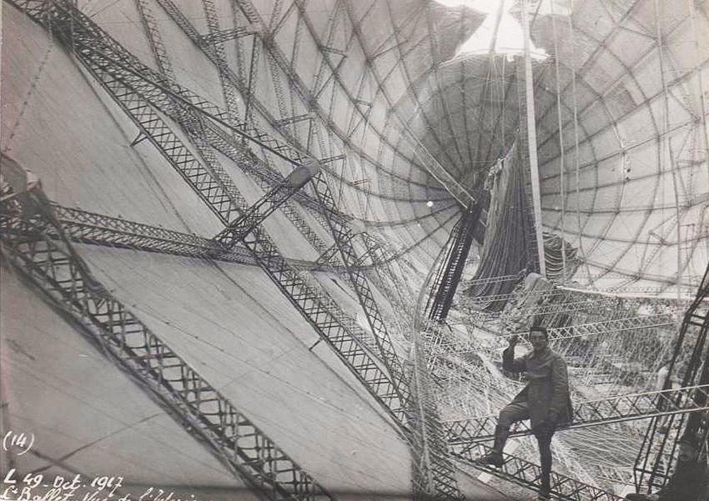 intérieur du zeppelin L49