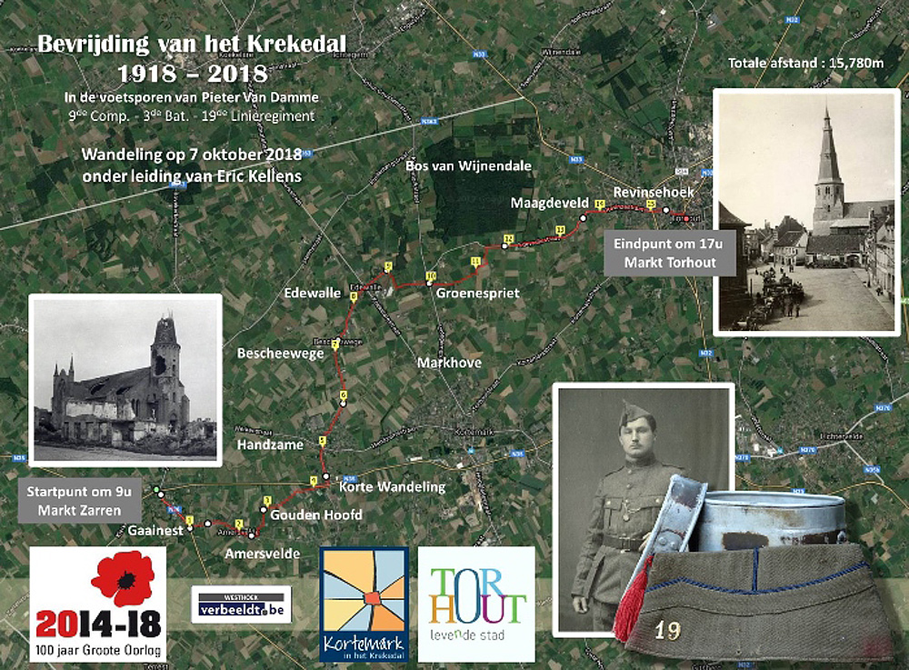 Kaart Bevrijding van het Krekedal pour mibb
