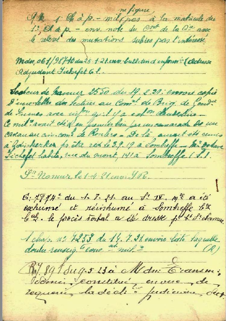 belg war register page 2
