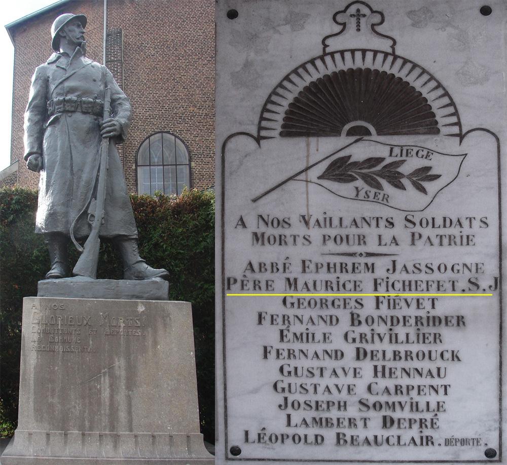 sombreffe monument & plaque commémorative