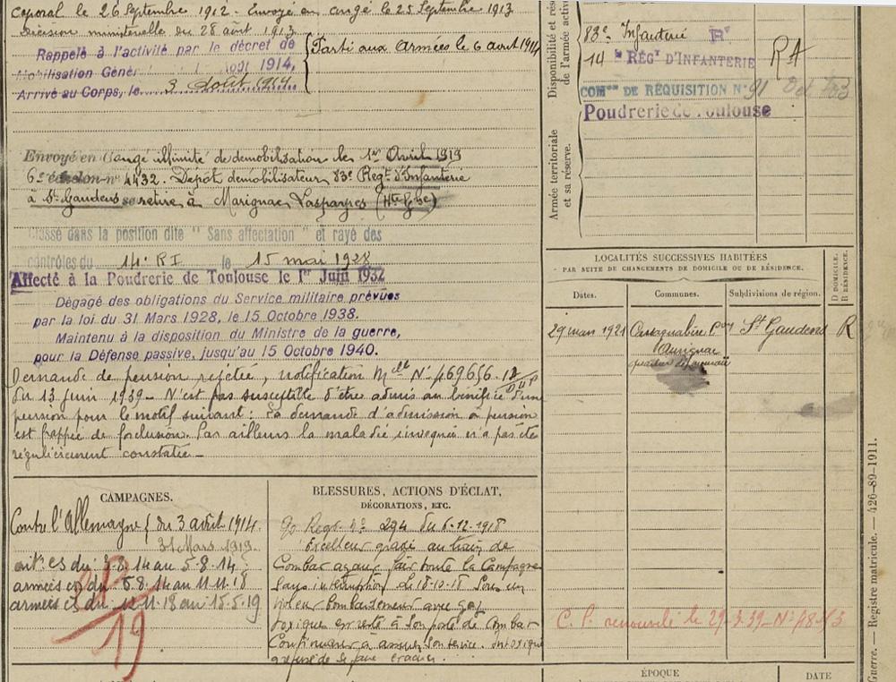 493 Jean SOUM 31 01 1889 Marignac page 2