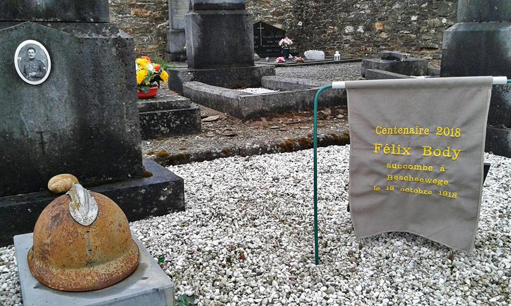 Icône de Félix apposée sur sa sépulture pour le centenaire de sa mort