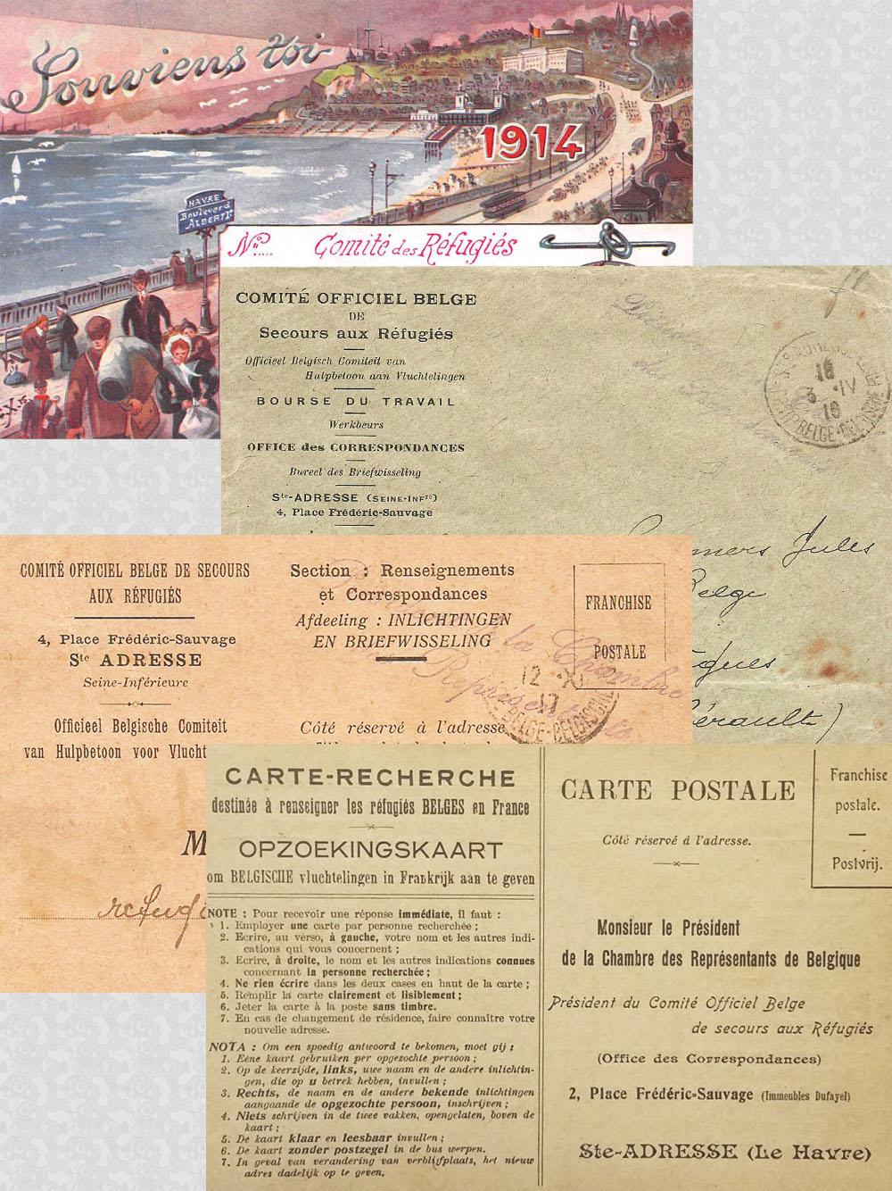 comité officiel belge montage missives 1914
