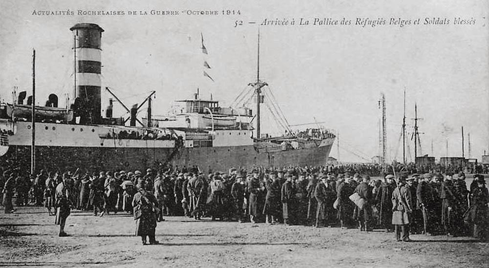 la pallice arrivée de réfugiés belges oct 14_modifié-1