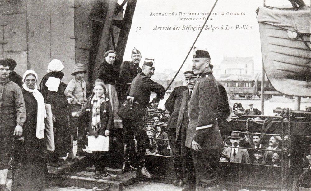 la pallice réfugiés belge oct 14 embarquement