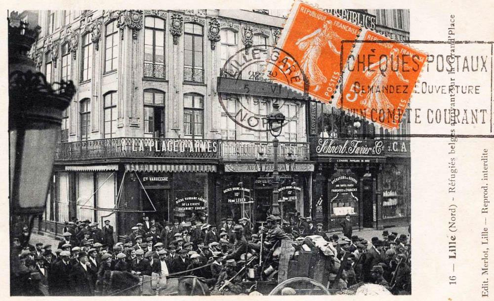 lille arrivée des réfugiés belges dans la ville