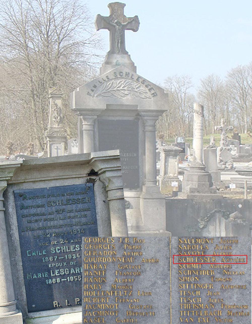 schlesser antoine monument et plaque