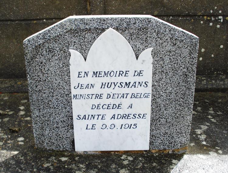 sépulture Jean Huysmans ste adresse
