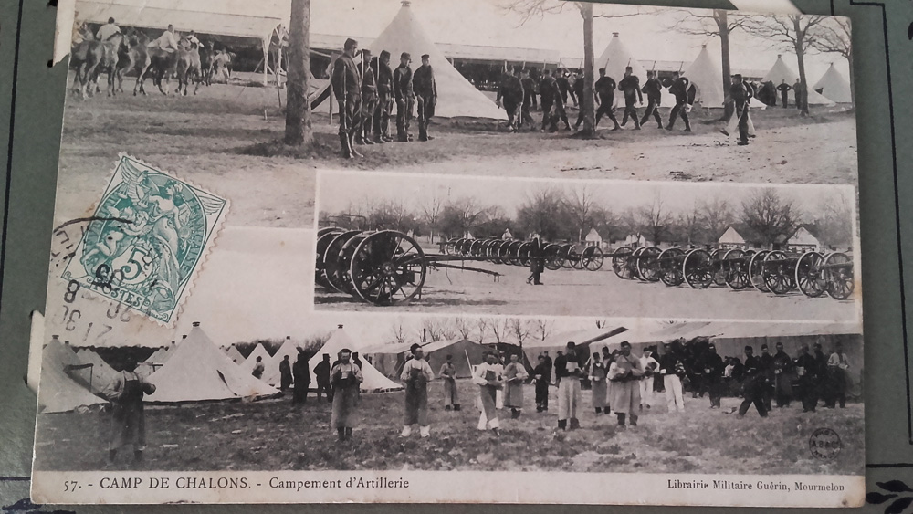 SOPHIE 23 camp de chalons campement d artillerie