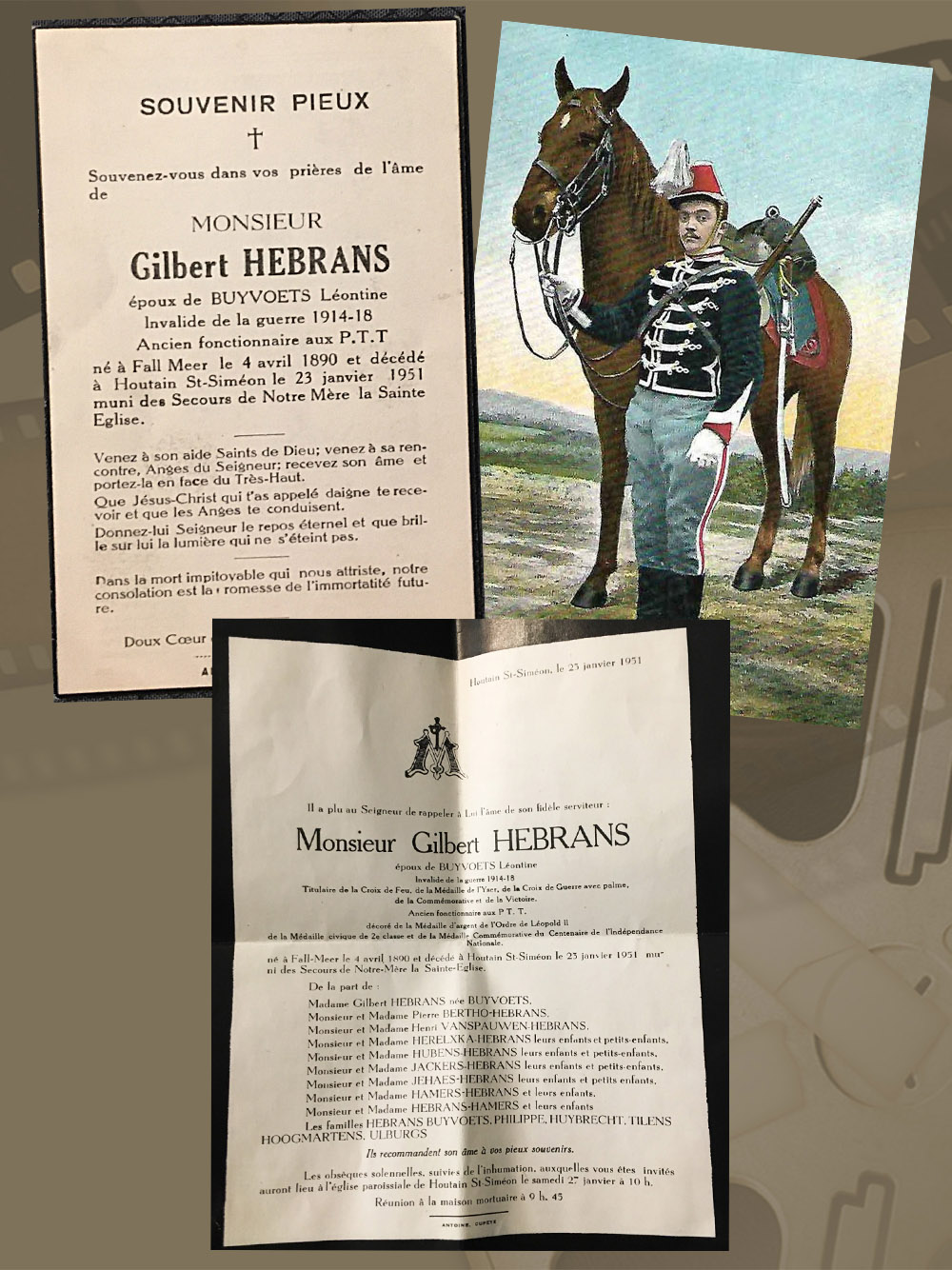 les avis mortuaires Gilbert Hebrans