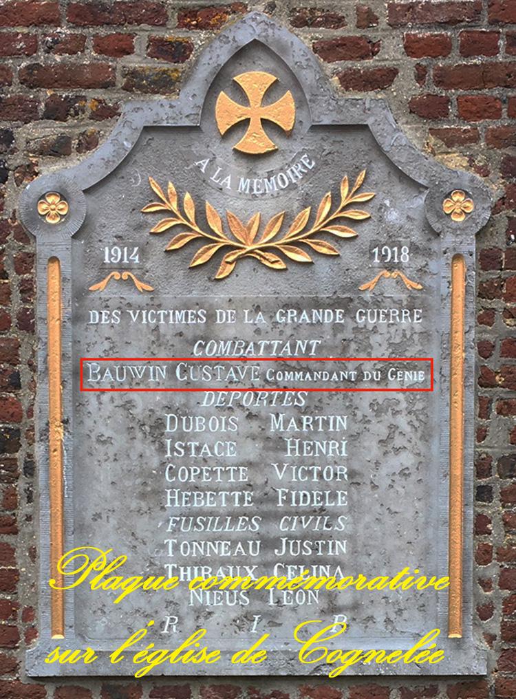 plaque commémorative de cognelée