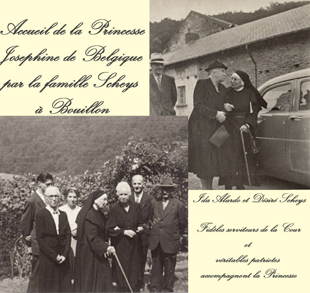 Ida Alardo & Désiré Scheys avec sar Josephine