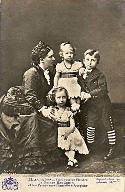 be comtesse de flandre prince baudouin princesse henriette et princesse joséphine