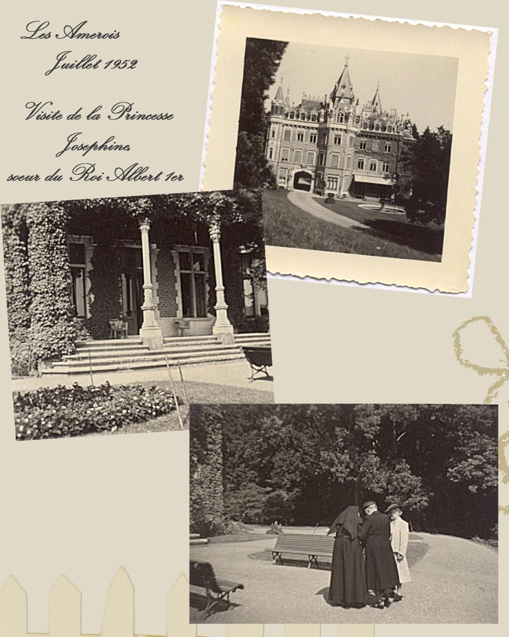 les amerois juillet 1952 visite Princesse Josephine