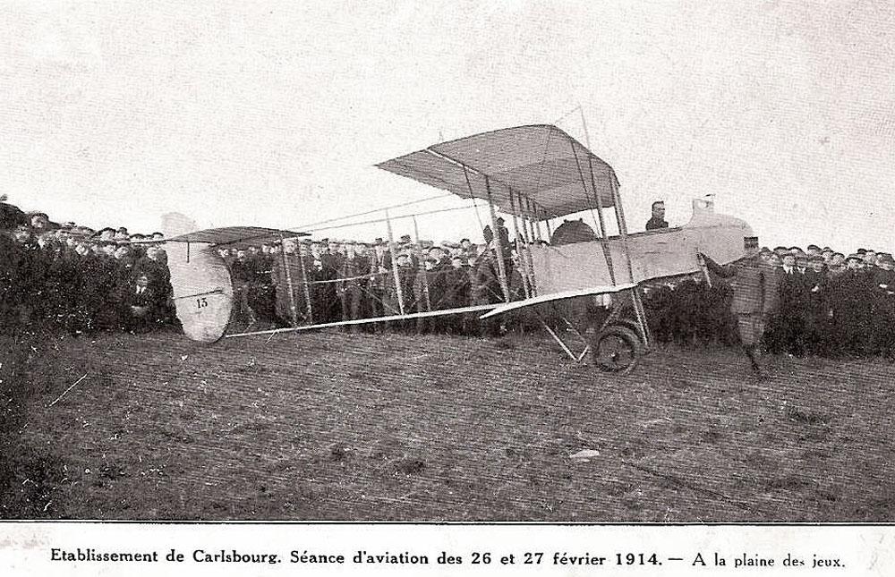 asu carsbourg séance d'aviation février 1914