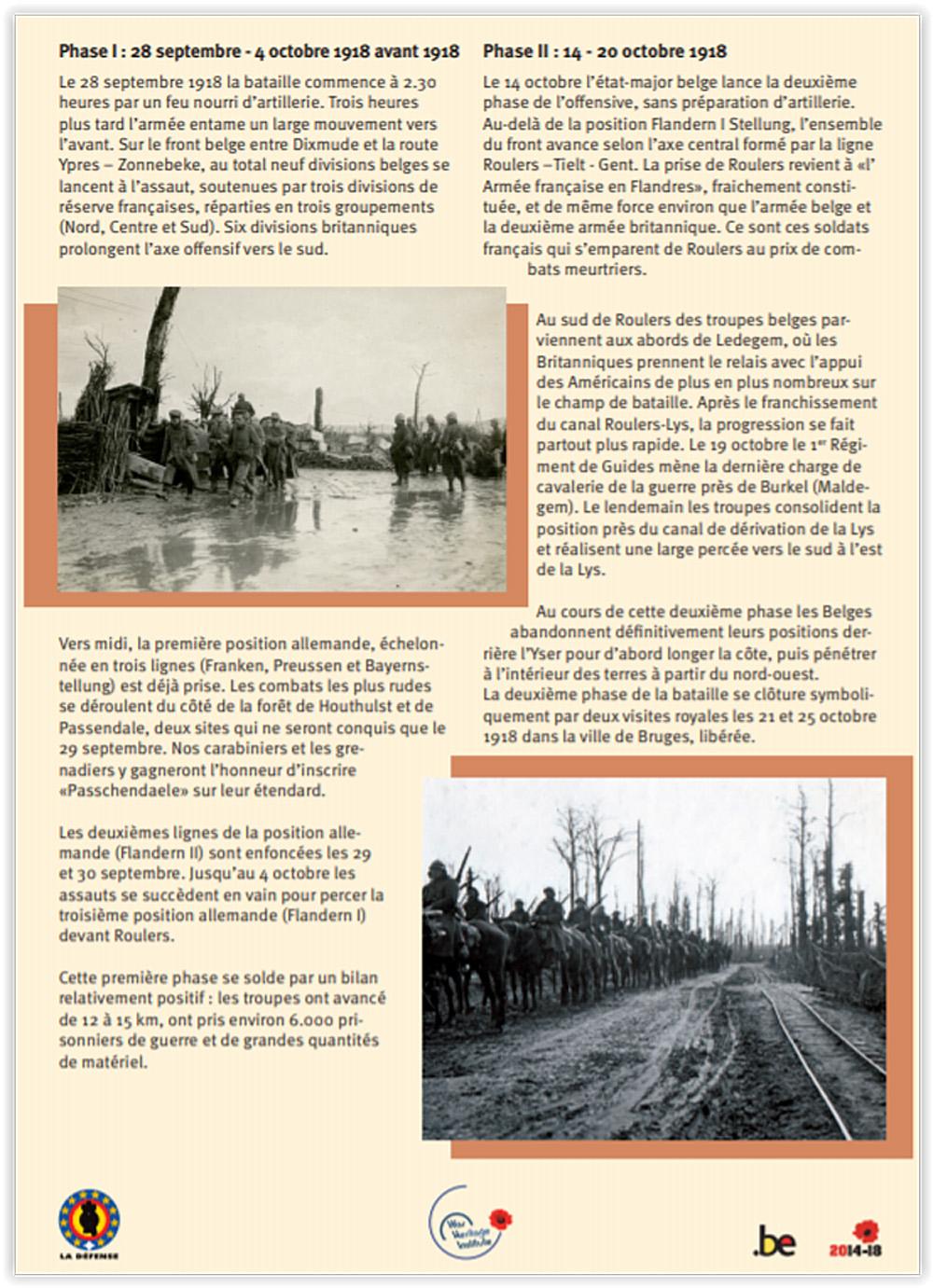 asu extrait bataille moorslede 4 Oct 1918