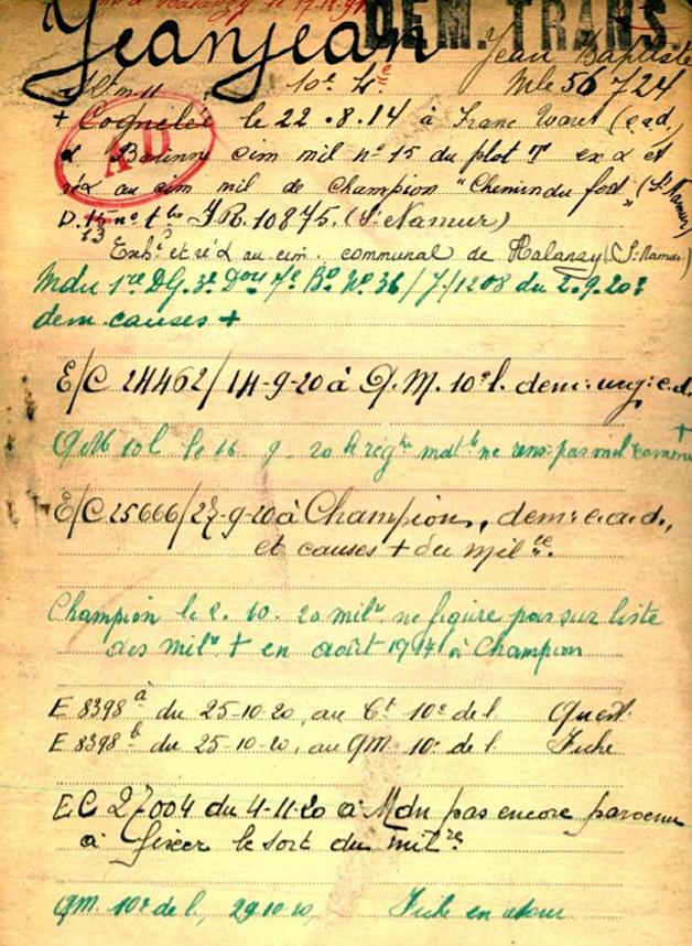 bel war regist jeanjean page 1