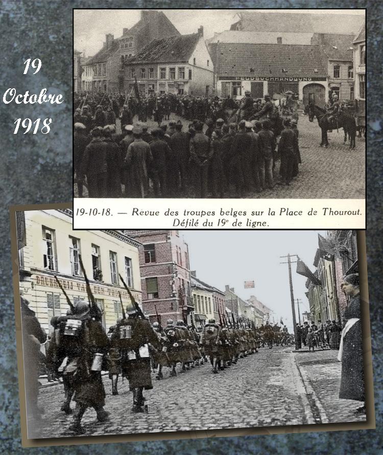 asu 19 oct 1918 defilé Thourout