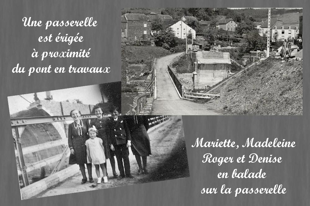 asu Madeleine ,Mariette,Roger & Denise sur la passerelle