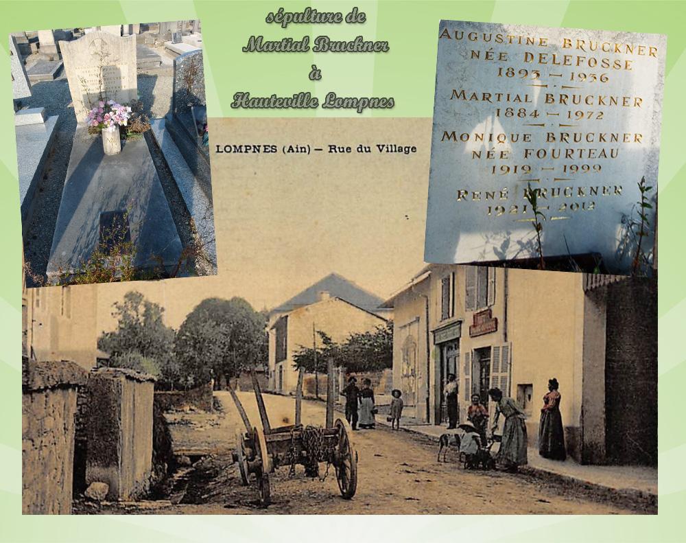 asu hauteville lompnes sépulture de Martial Bruckner