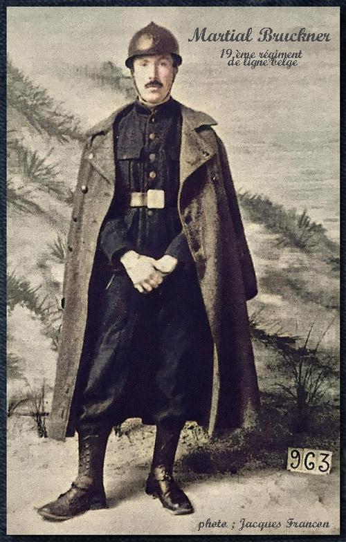 portrait de martial bruckner en uniforme 19èligne mibbcol