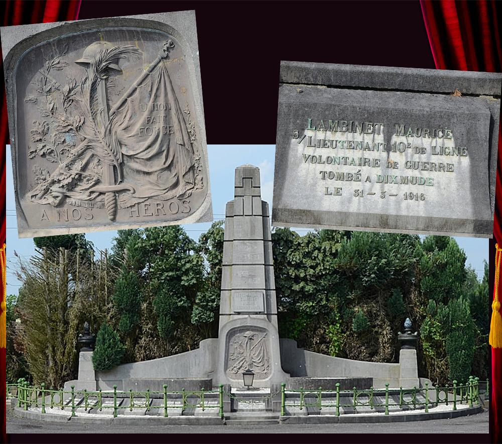 asu le monument aux morts auvelais plaque lambinet