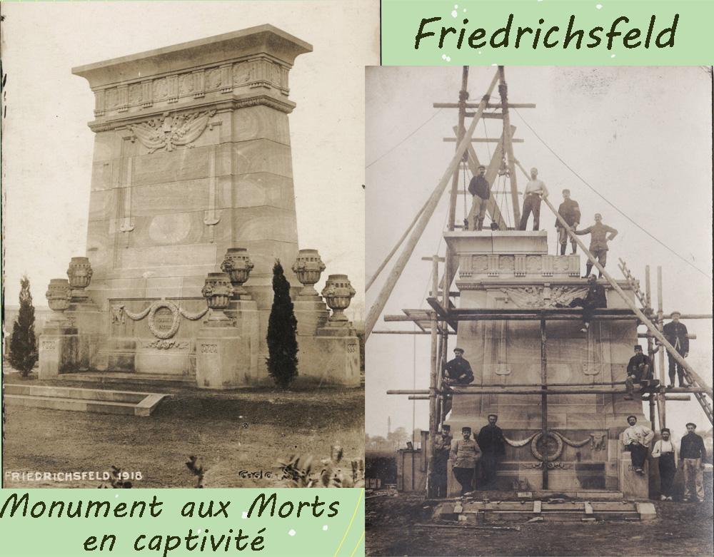 friedrichsfeld monument aux morts en captivité