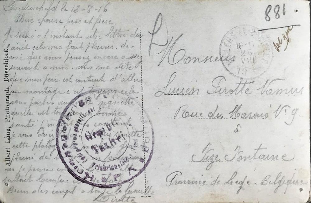 lucien pirotte 13 aout 1916