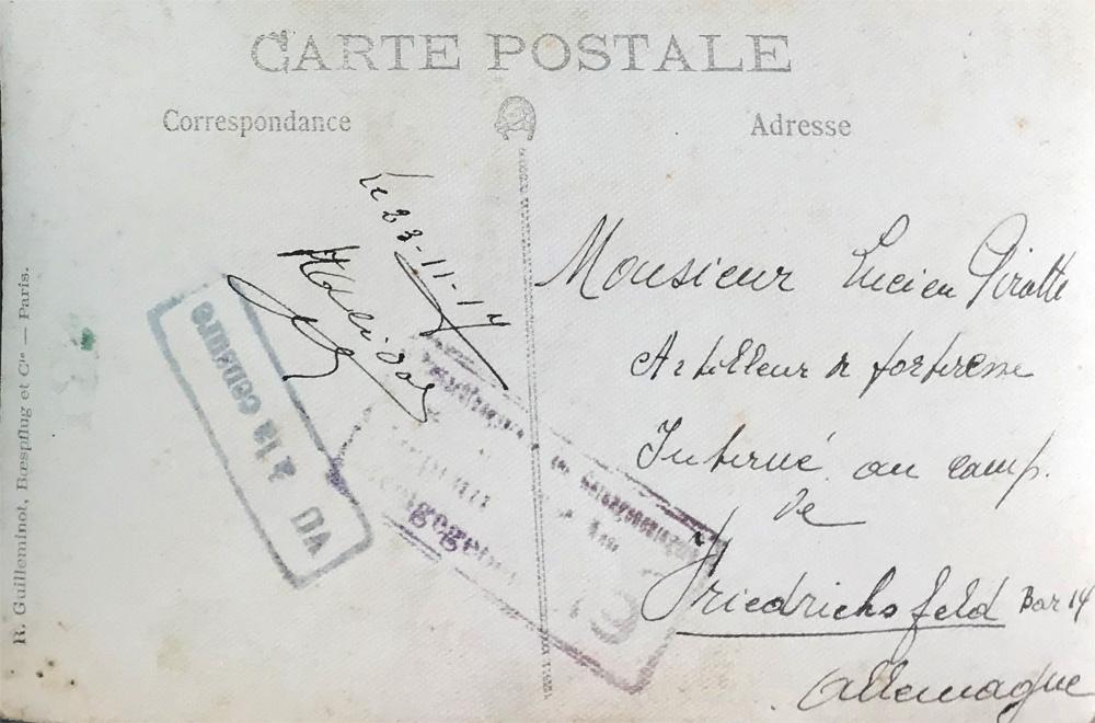 lucien pirotte 23 Nov 1917