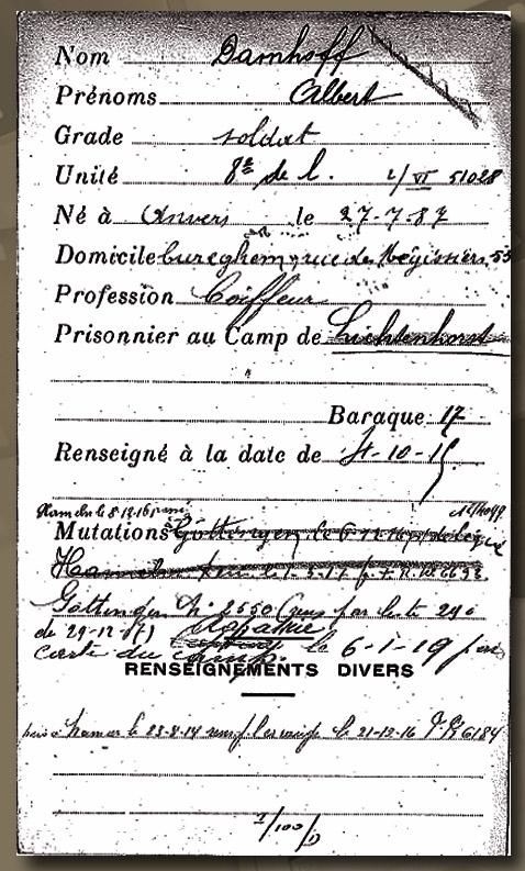 asu camp de lichtenhorst fiche Damhoff