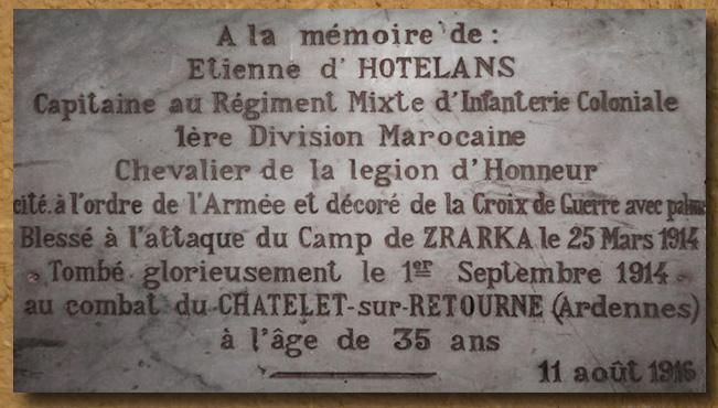 asu plaque commémorative etienne d'hotelans