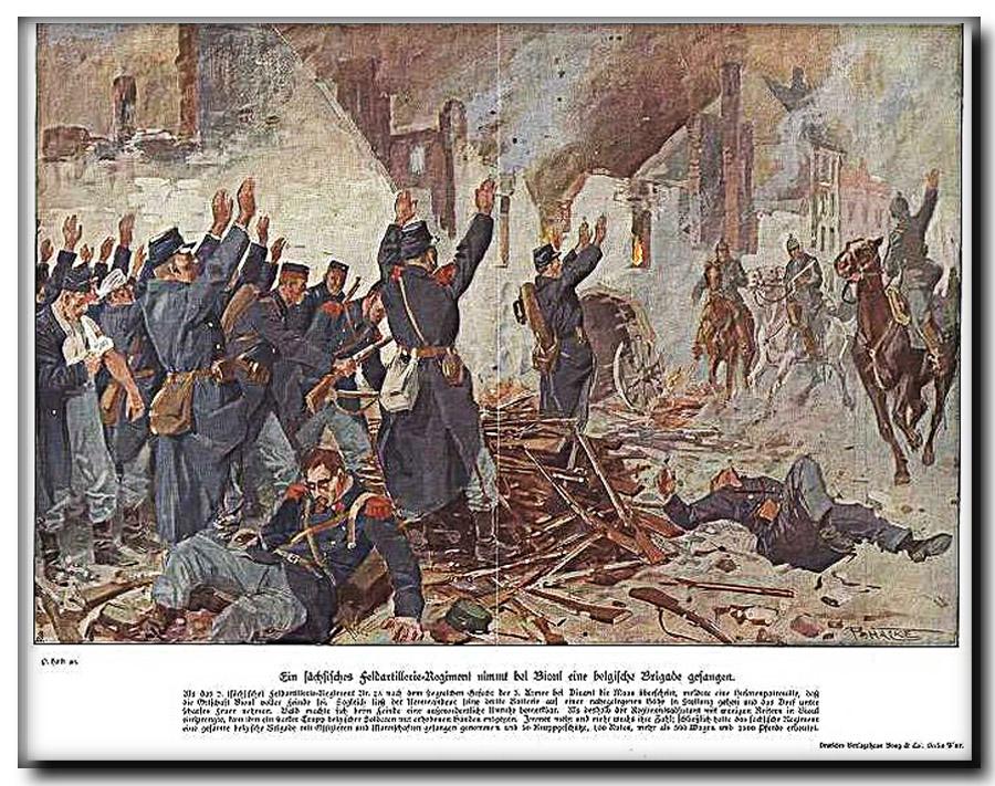site soldats belges se rendant aux ennemis à bioul