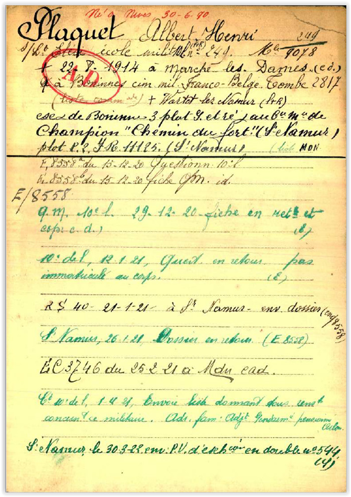 albart plaquet bel war reg page 1