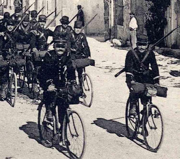 asu cyclistes chasseurs à pied 1914